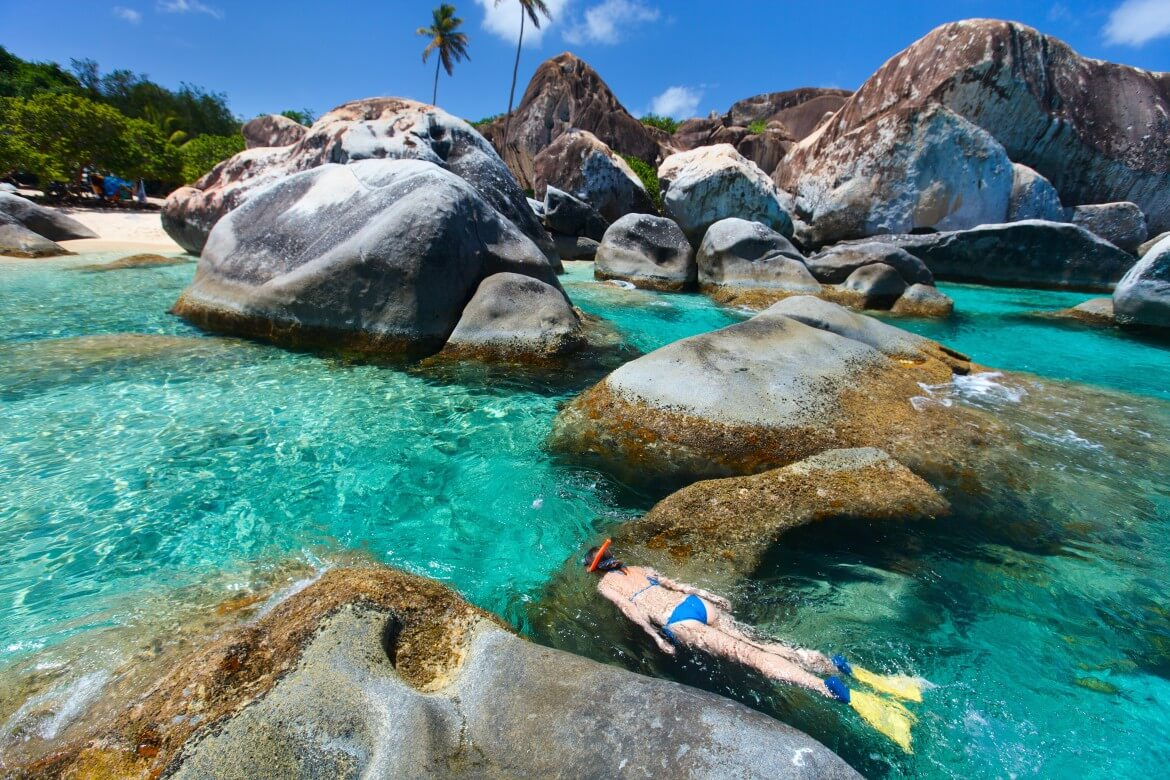 The Baths in the British Virgin Islands