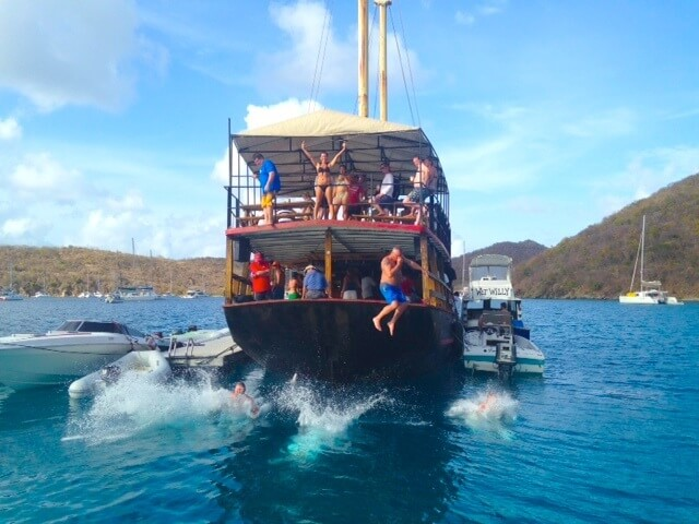 Willy T's Floating Bar & Restaurant in the Virgin Islands