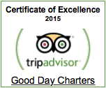 Trip Advisor Certificate of Excellence Boat Charters