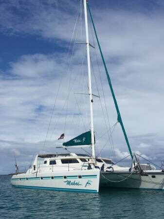 50 foot catamaran named makai