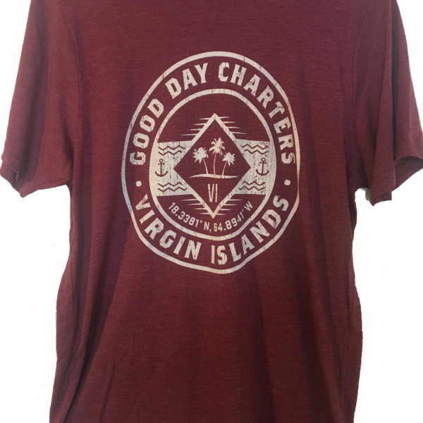 men's short sleeve t-shirt in maroon