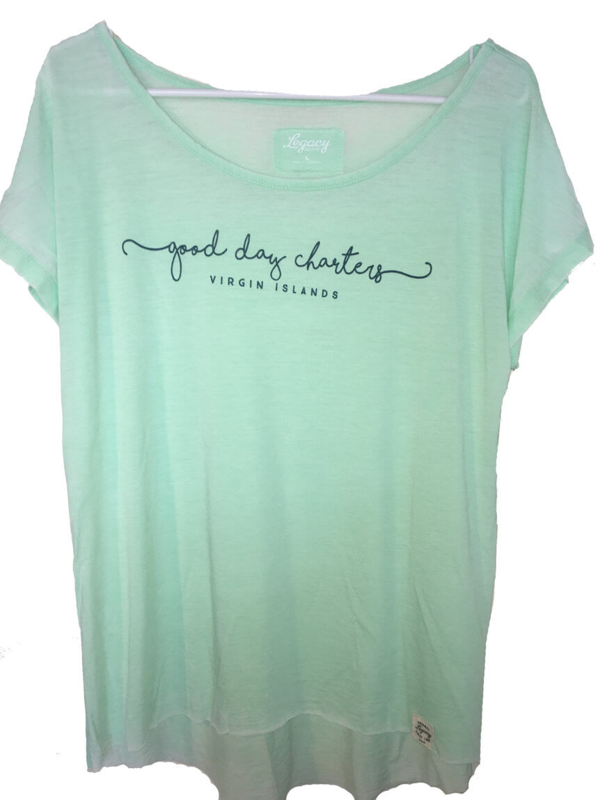 Women's short sleeve t-shirt in Green